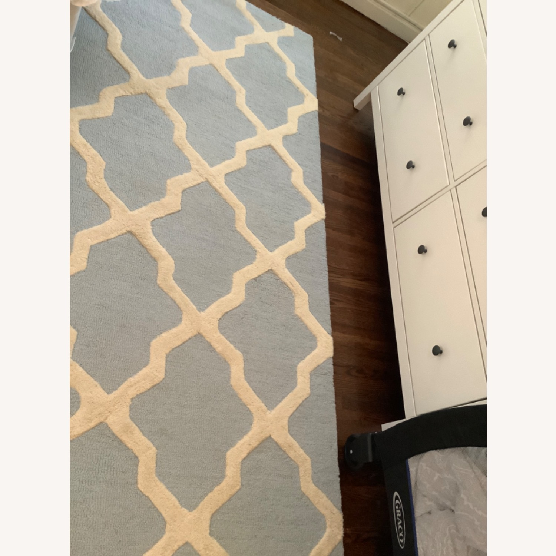 Safavieh Cambridge Blue & Cream Wool Rug 8x10 - image-3