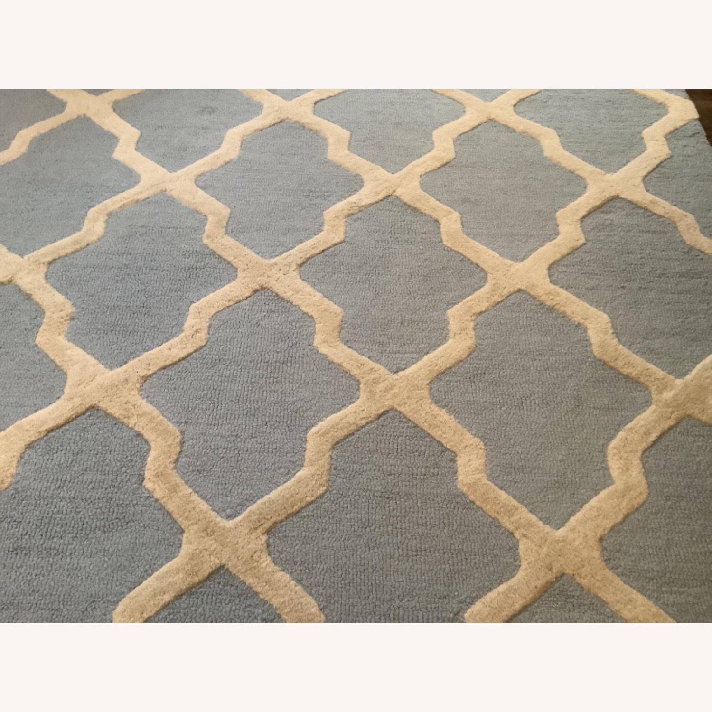 Safavieh Cambridge Blue & Cream Wool Rug 8x10 - image-4