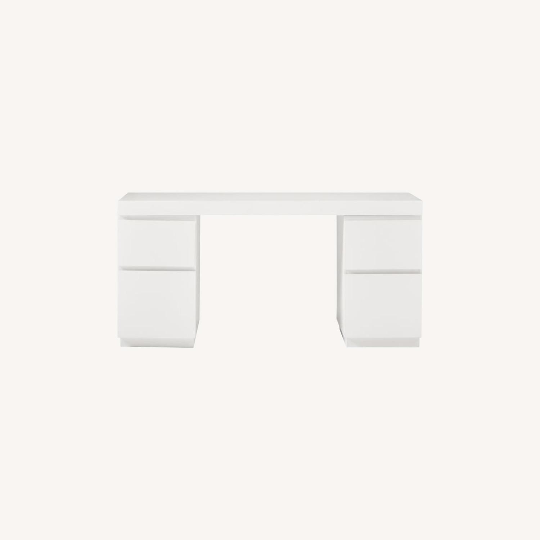 West Elm Parsons 2 File Cabinets & Desk Set - image-0