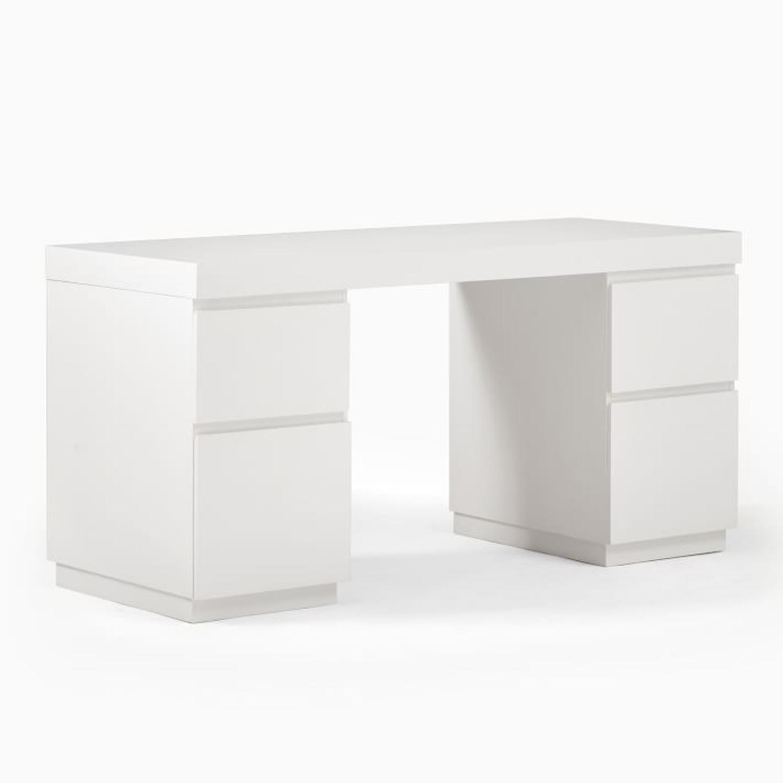 West Elm Parsons 2 File Cabinets & Desk Set - image-1