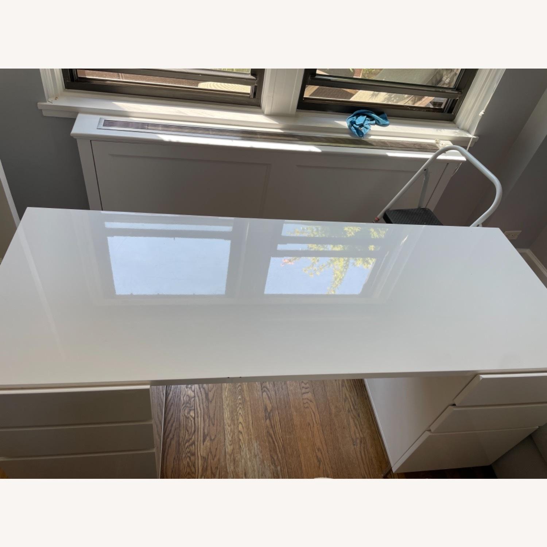 West Elm Parsons 2 File Cabinets & Desk Set - image-6
