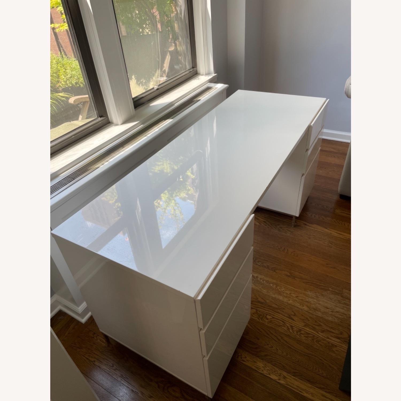 West Elm Parsons 2 File Cabinets & Desk Set - image-7