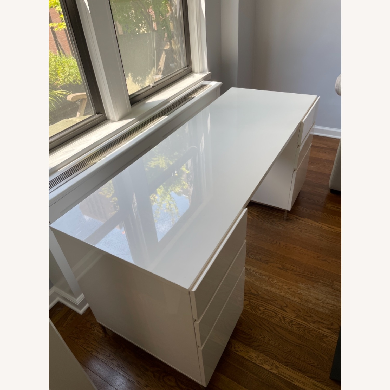 West Elm Parsons 2 File Cabinets & Desk Set - image-5
