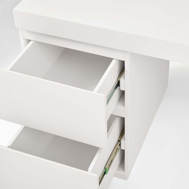 West Elm Parsons 2 File Cabinets & Desk Set - image-3