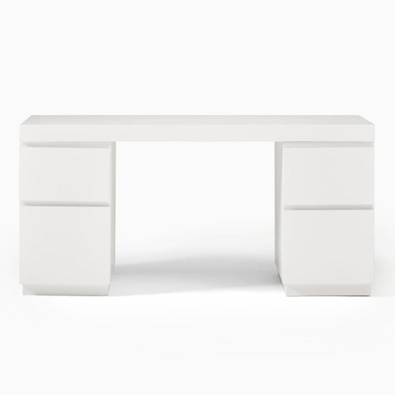 West Elm Parsons 2 File Cabinets & Desk Set - image-2