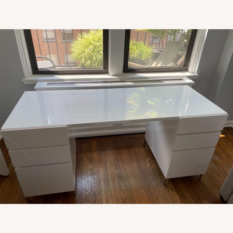 West Elm Parsons 2 File Cabinets & Desk Set - image-4