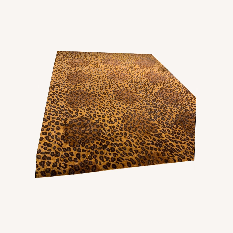 ABC Carpet Wool Leopard Print Rug 8x11 - image-0