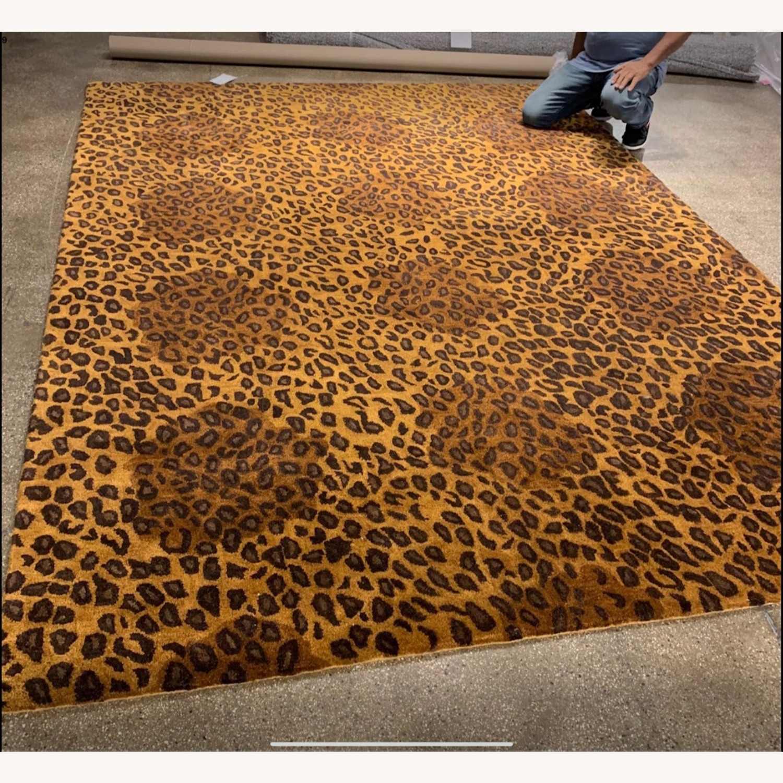 ABC Carpet Wool Leopard Print Rug 8x11 - image-3