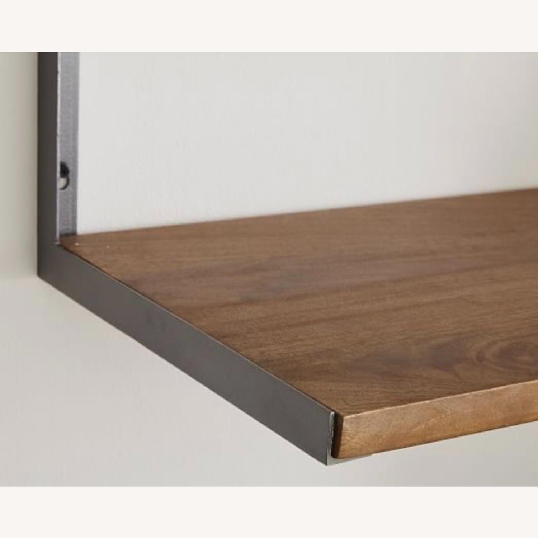 West Elm 3-Tiered Wood & Metal Wall Shelf - image-2