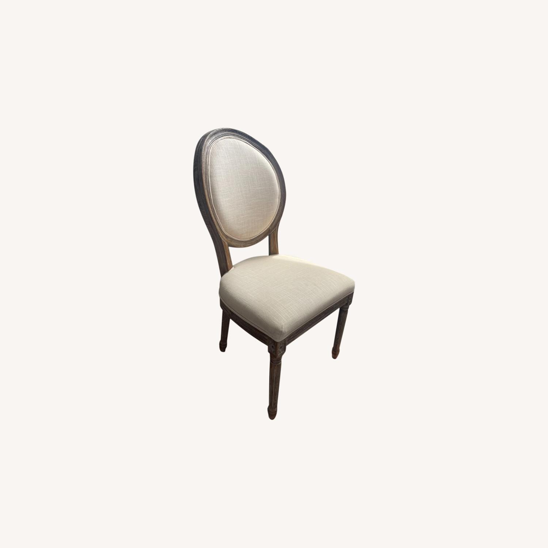 World Market Linen Side Chair - image-0