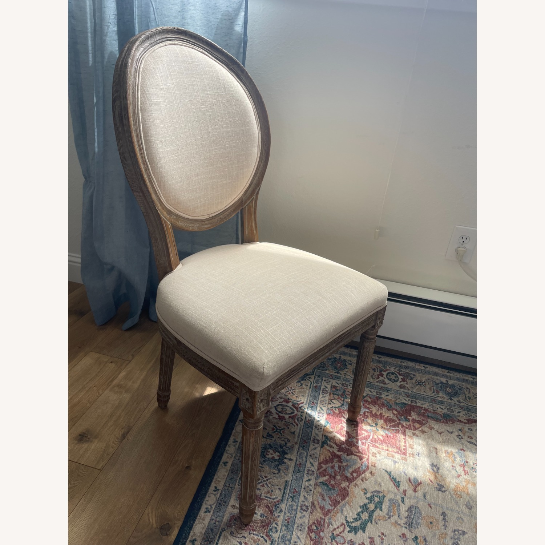 World Market Linen Side Chair - image-1