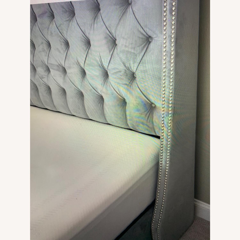 Velvet Steel Gray King Bed - image-3