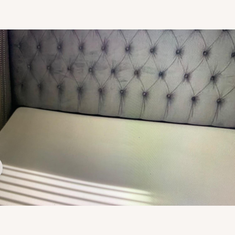 Velvet Steel Gray King Bed - image-2