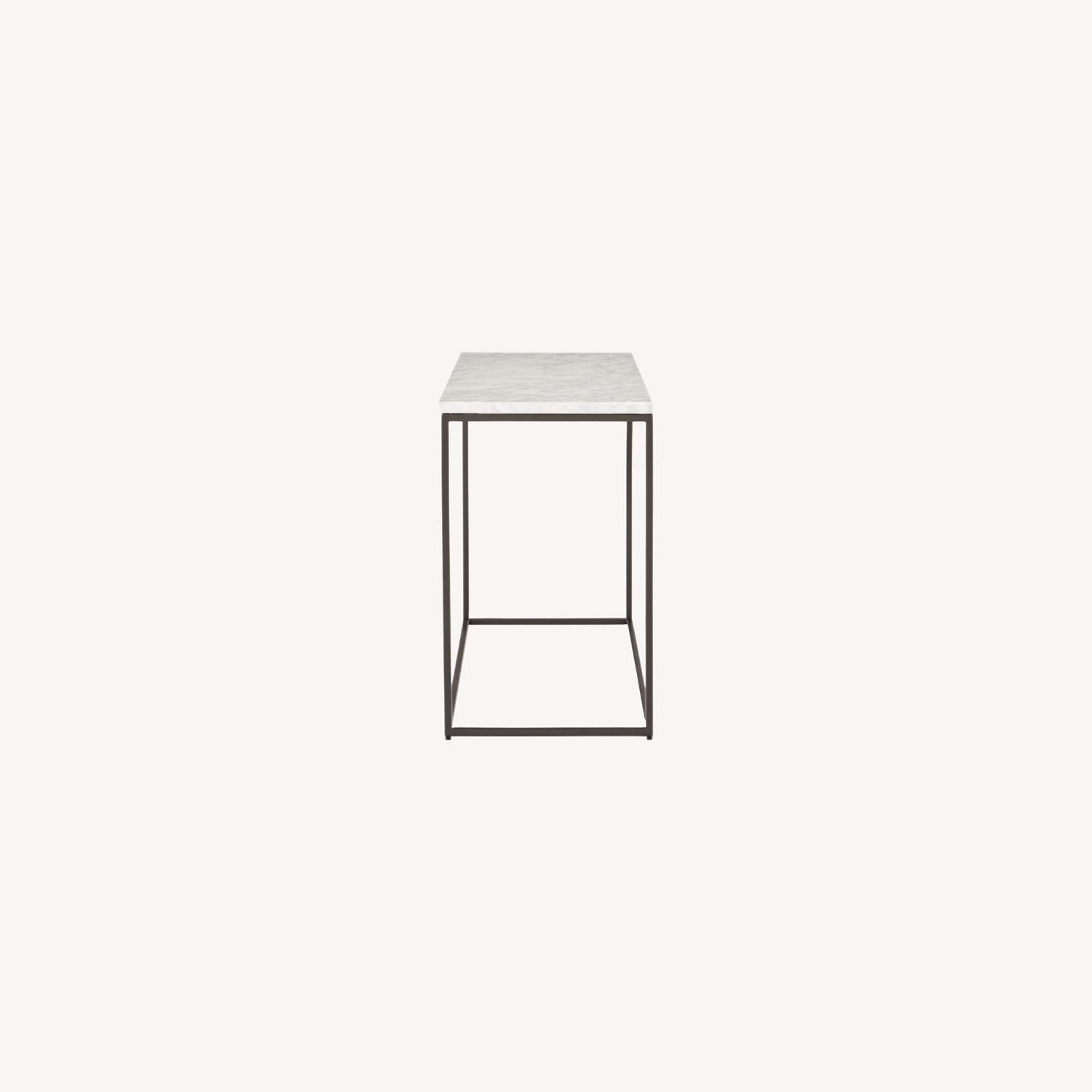 West Elm Marble End Table - image-0