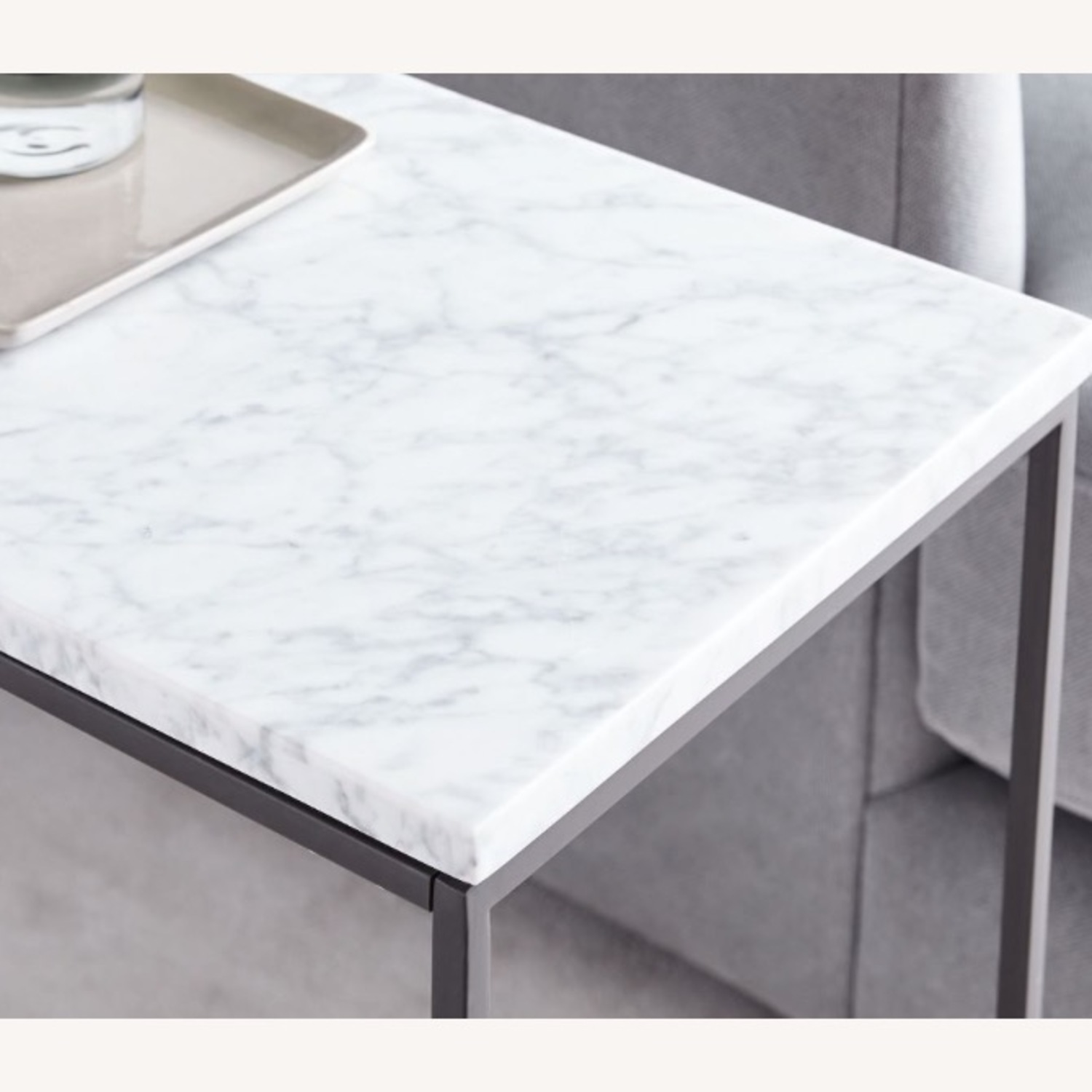 West Elm Marble End Table - image-1