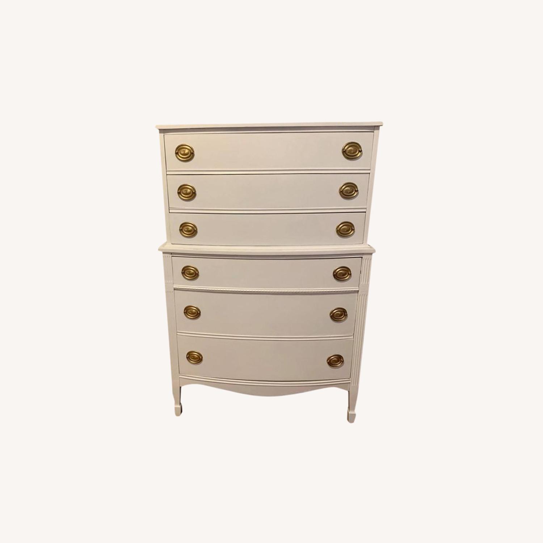 White Tallboy Dresser - image-0