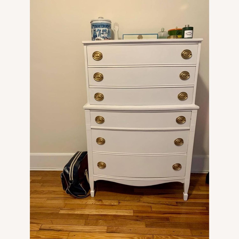 White Tallboy Dresser - image-1