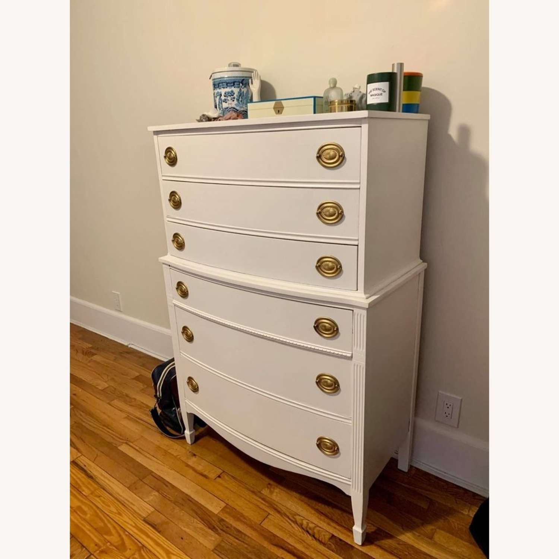 White Tallboy Dresser - image-2