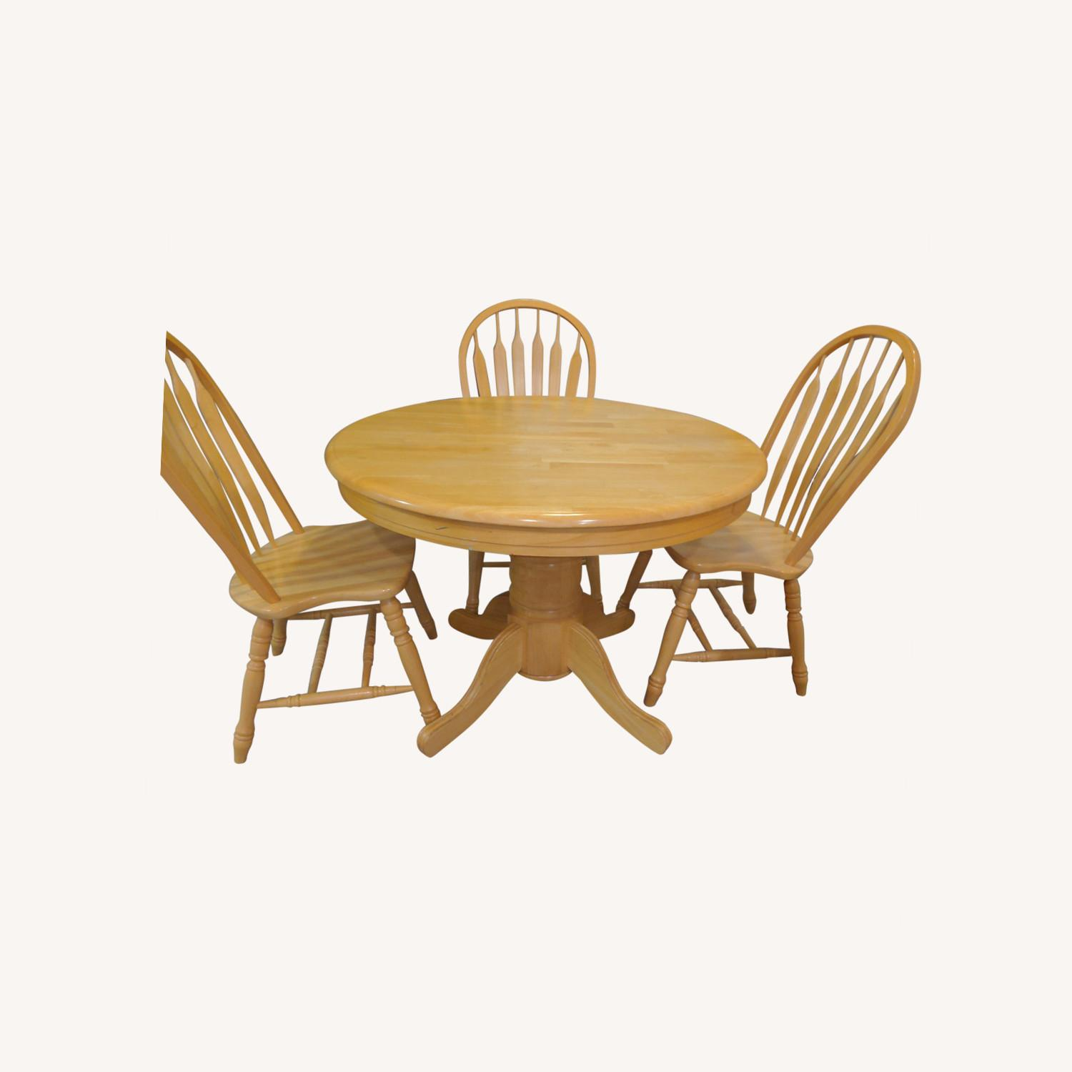 Macy's Pedestal Extendable Dining Table Set - image-0