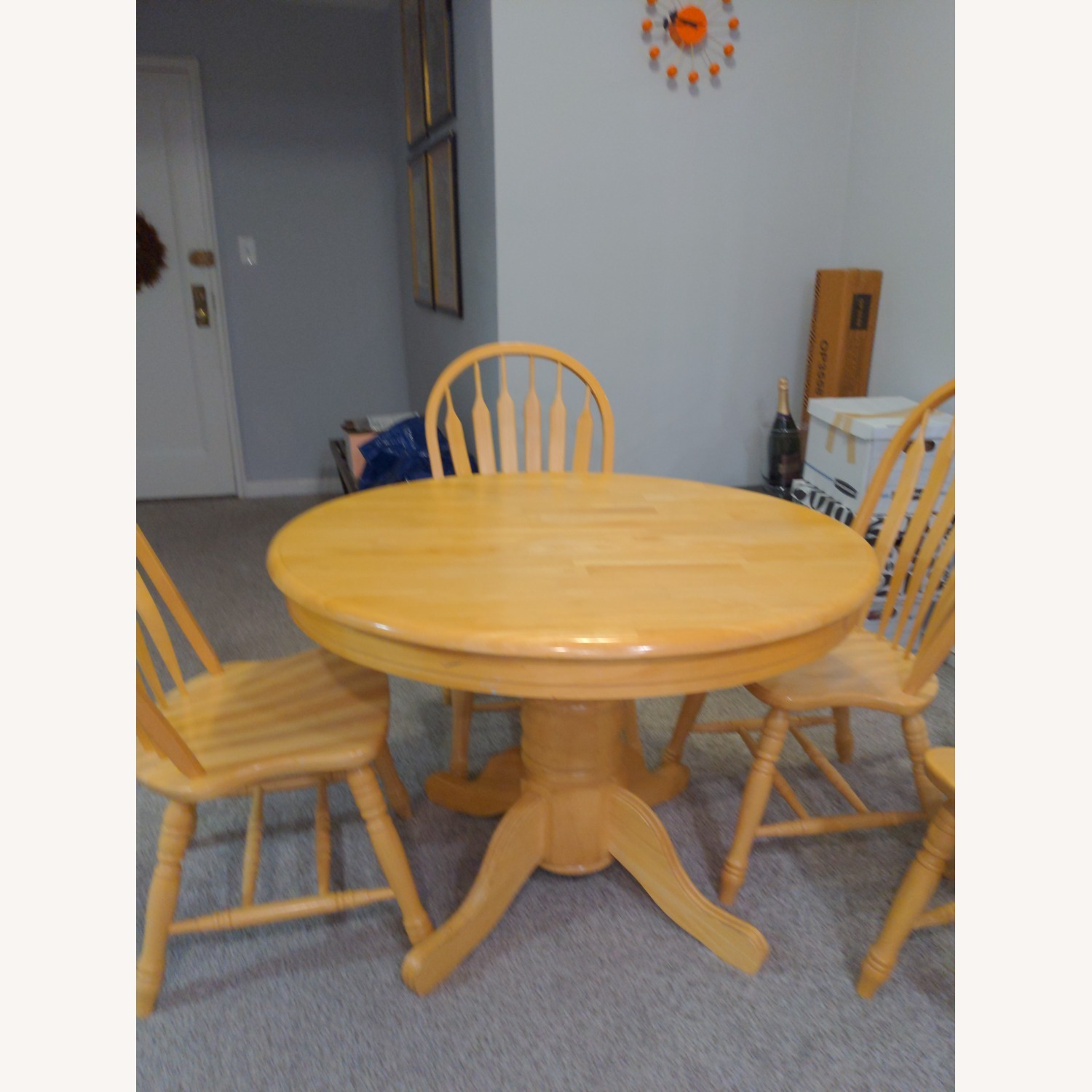 Macy's Pedestal Extendable Dining Table Set - image-1