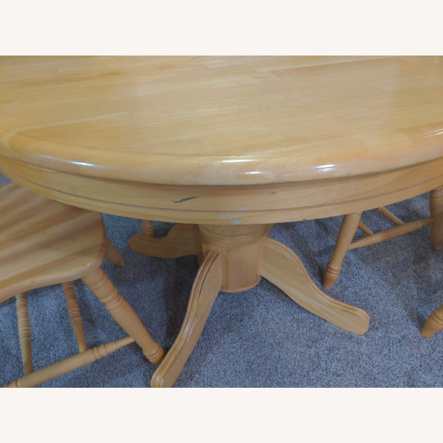 Macy's Pedestal Extendable Dining Table Set - image-2