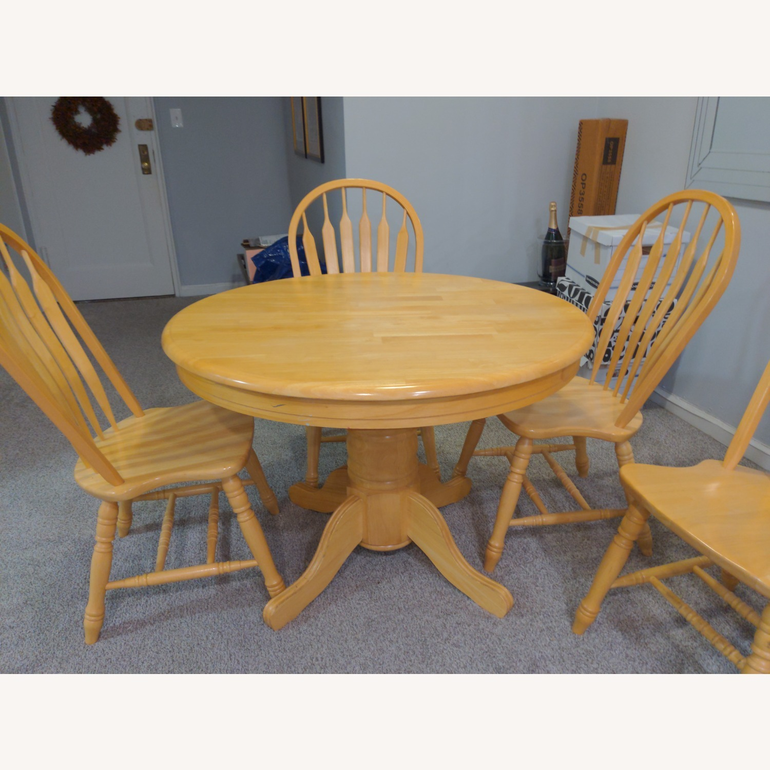 Macy's Pedestal Extendable Dining Table Set - image-3