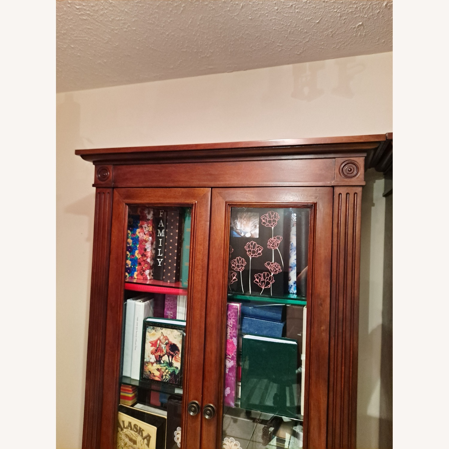 Wooden Importers Bookcace with Glass Doors - image-5