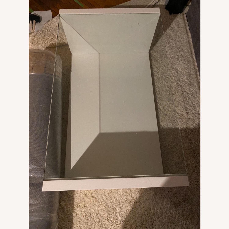 Modani White Glass Modern Coffee Table - image-5