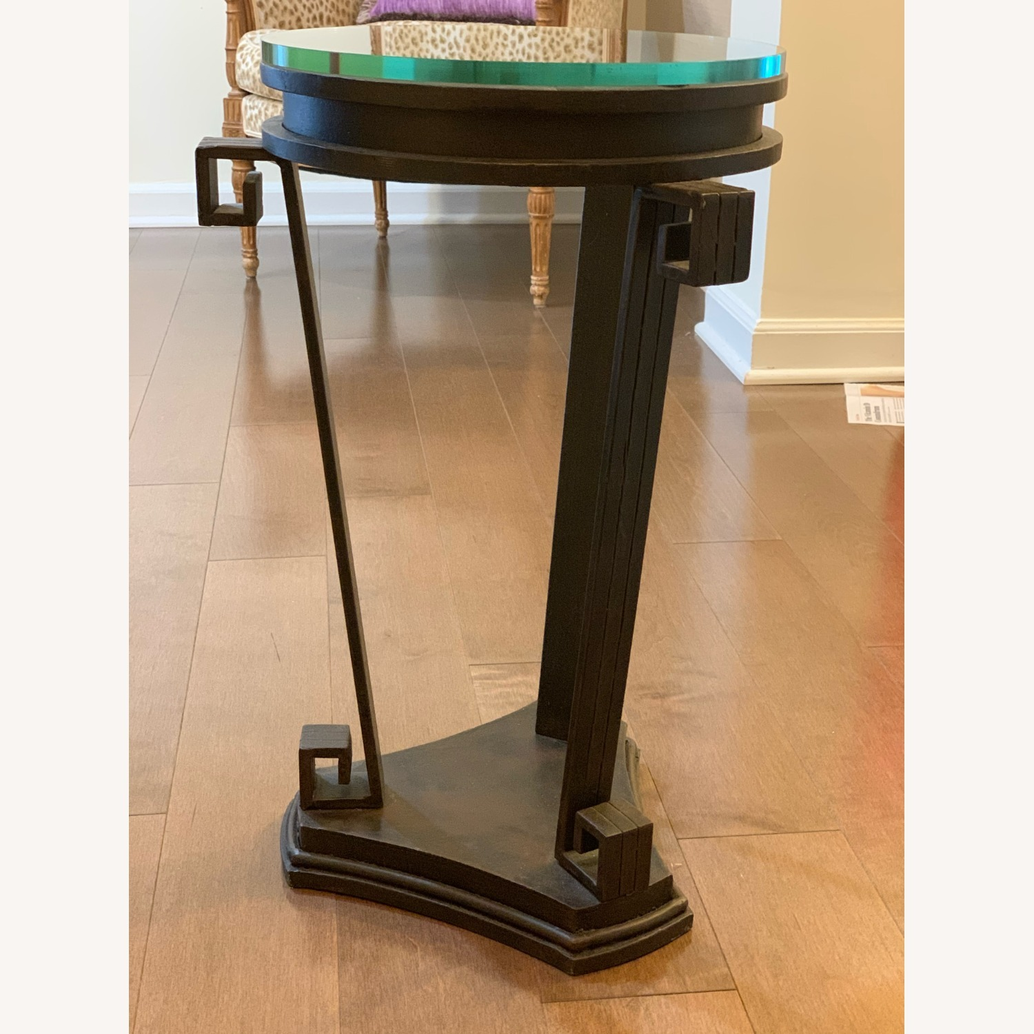 """Black Iron Side/Accent Table w/1/2"""" Glass Top - image-1"""