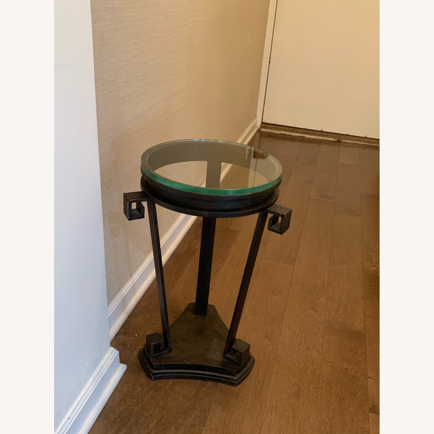 """Black Iron Side/Accent Table w/1/2"""" Glass Top - image-4"""