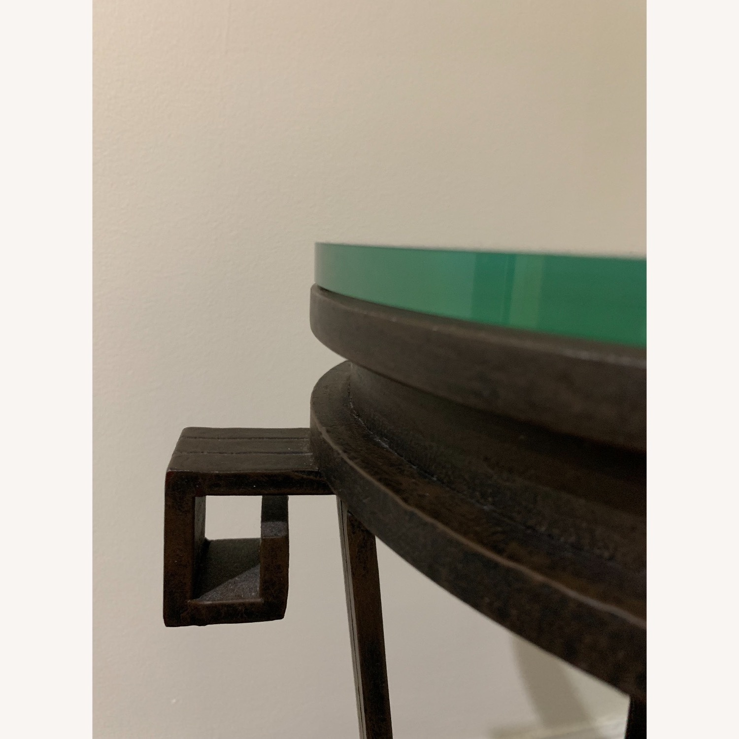 """Black Iron Side/Accent Table w/1/2"""" Glass Top - image-7"""