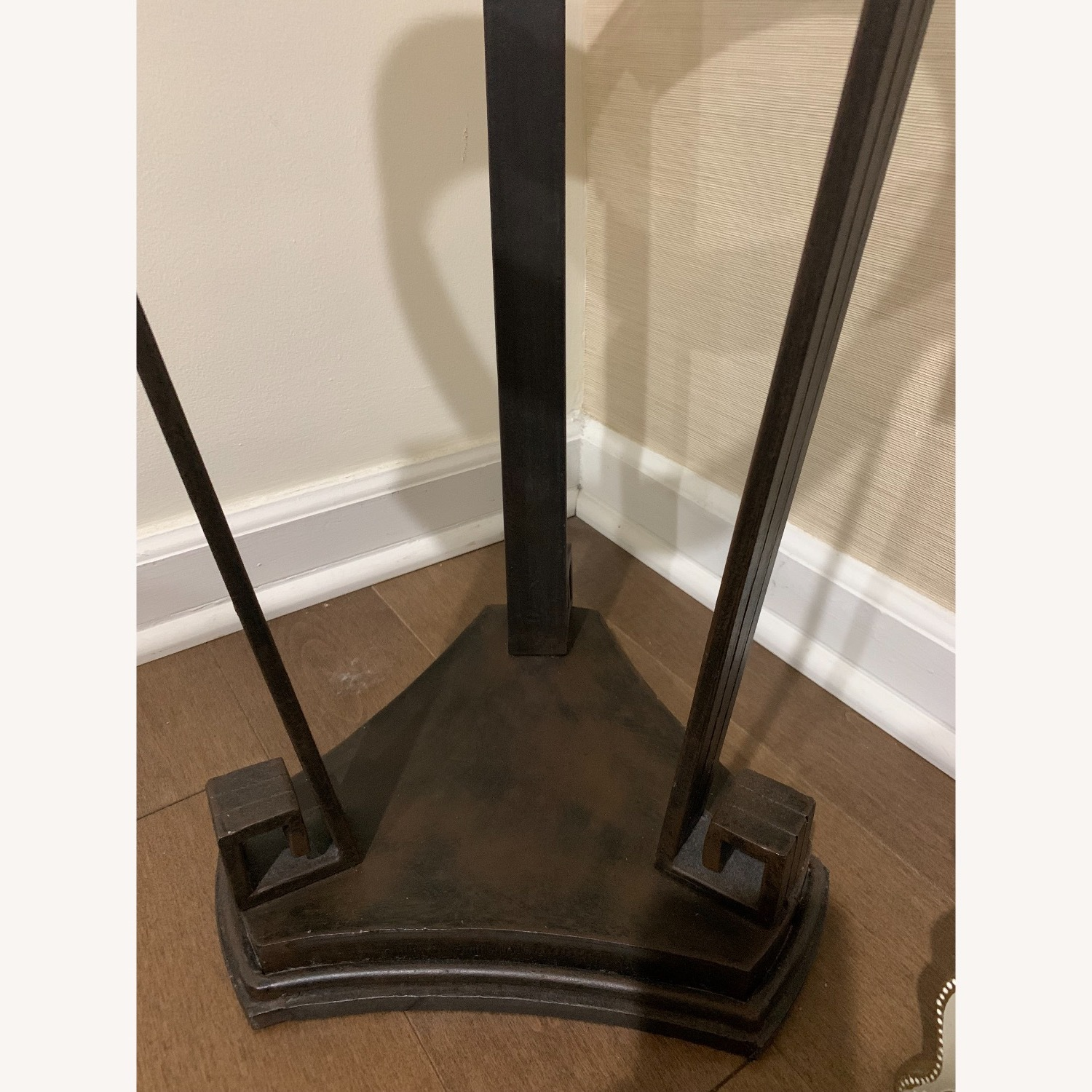 """Black Iron Side/Accent Table w/1/2"""" Glass Top - image-6"""