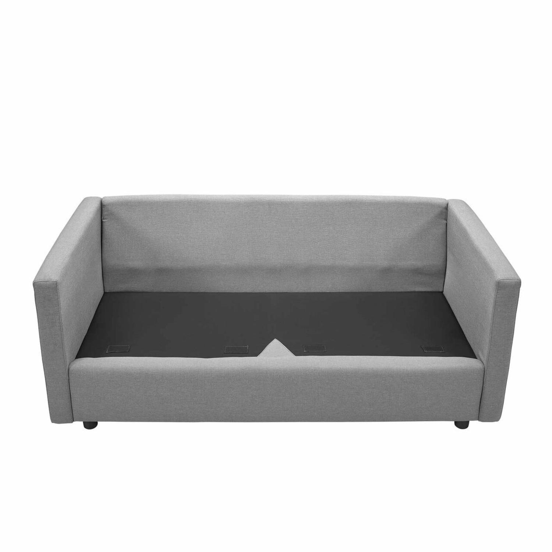 Modern Sofa In Light Gray Rounded Cushion Finish - image-5