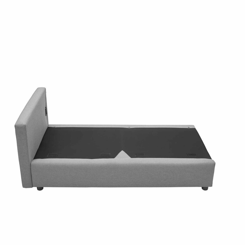 Modern Sofa In Light Gray Rounded Cushion Finish - image-3