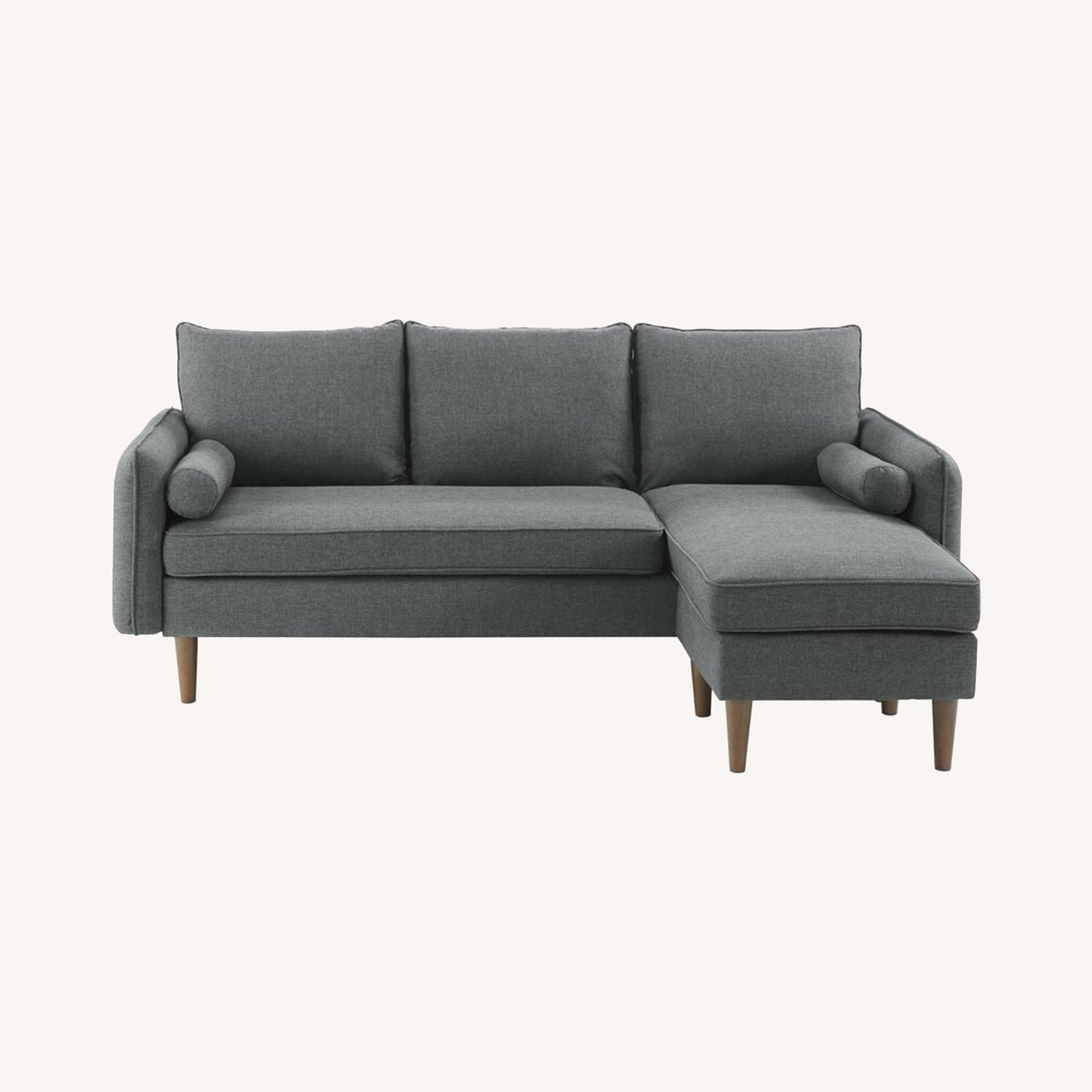 2-Piece Sectional Sofa In Gray Upholstery Finish - image-12
