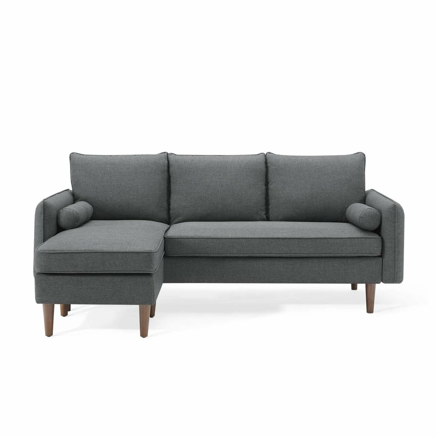 2-Piece Sectional Sofa In Gray Upholstery Finish - image-2
