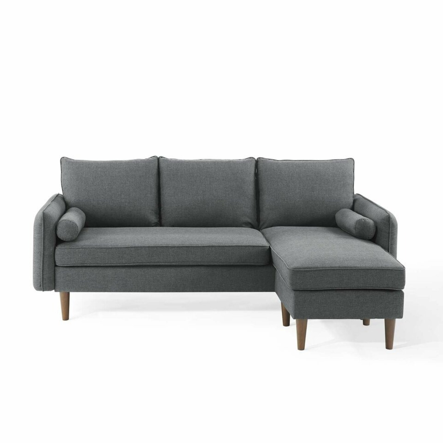 2-Piece Sectional Sofa In Gray Upholstery Finish - image-1