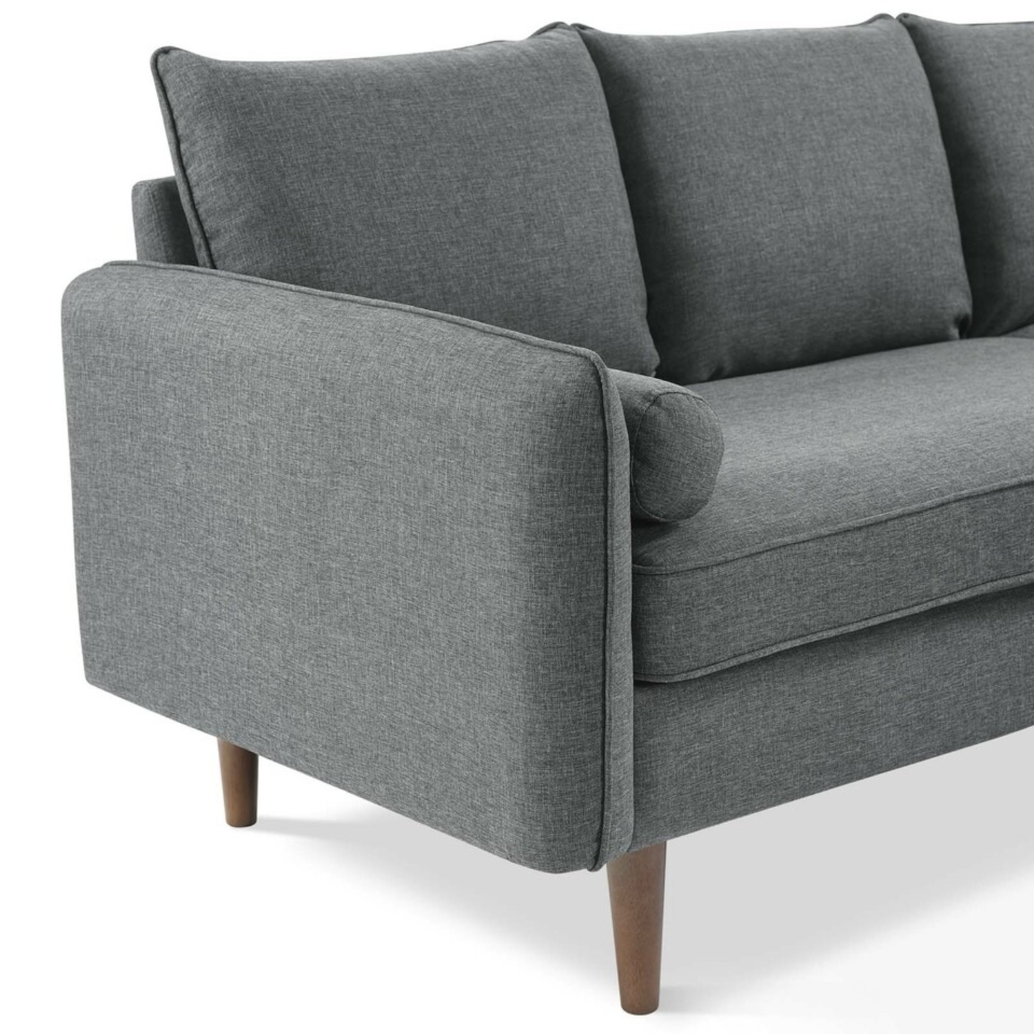 2-Piece Sectional Sofa In Gray Upholstery Finish - image-5