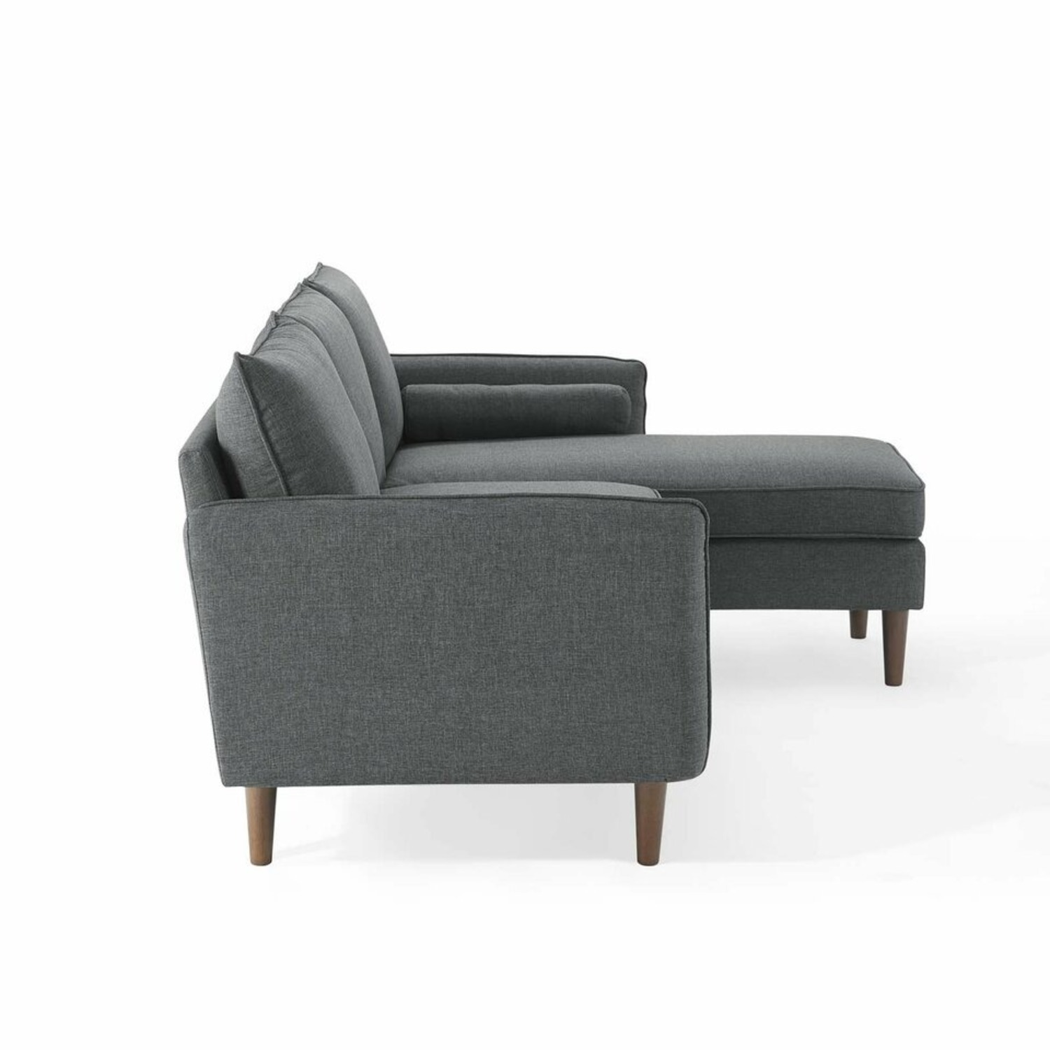 2-Piece Sectional Sofa In Gray Upholstery Finish - image-4