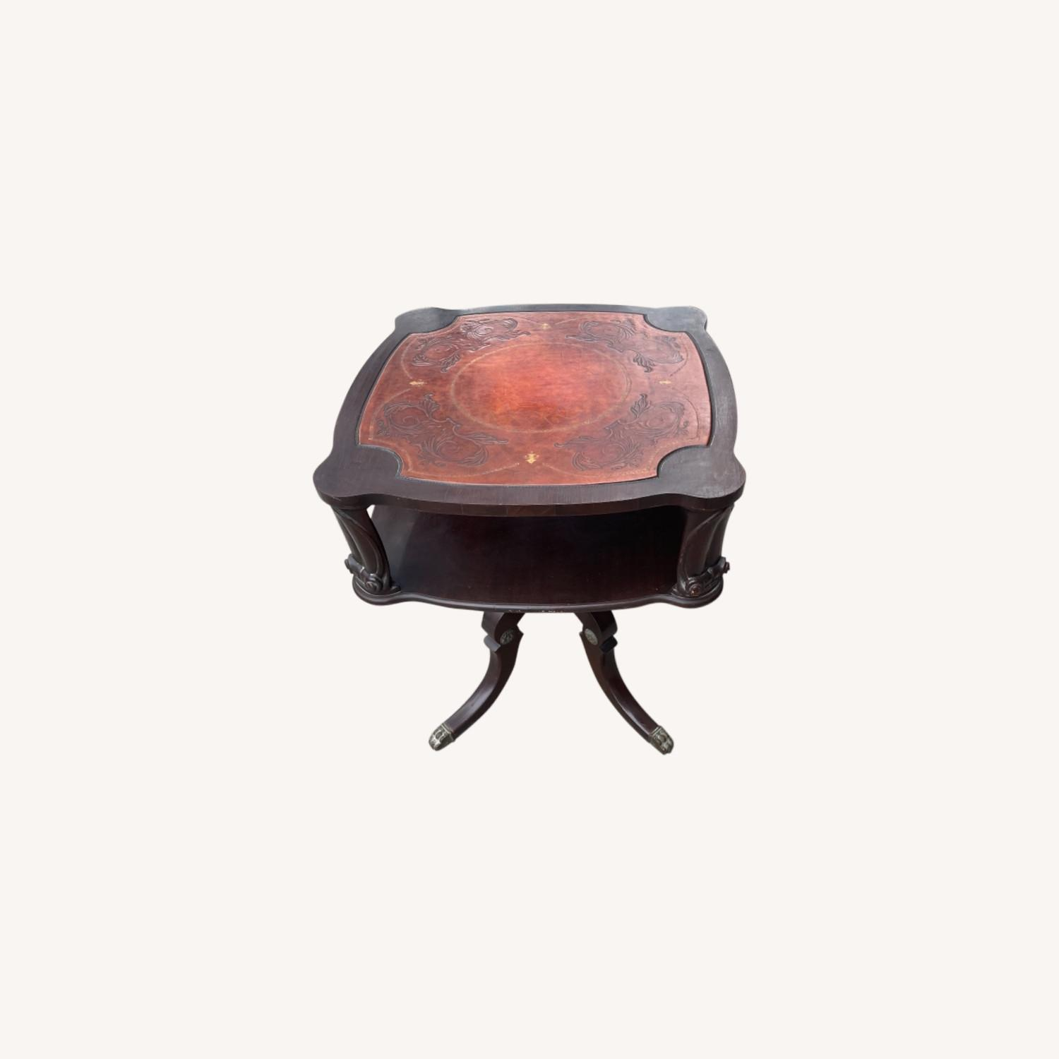 Adams Always 1930s Decorative Leather Top Table - image-0