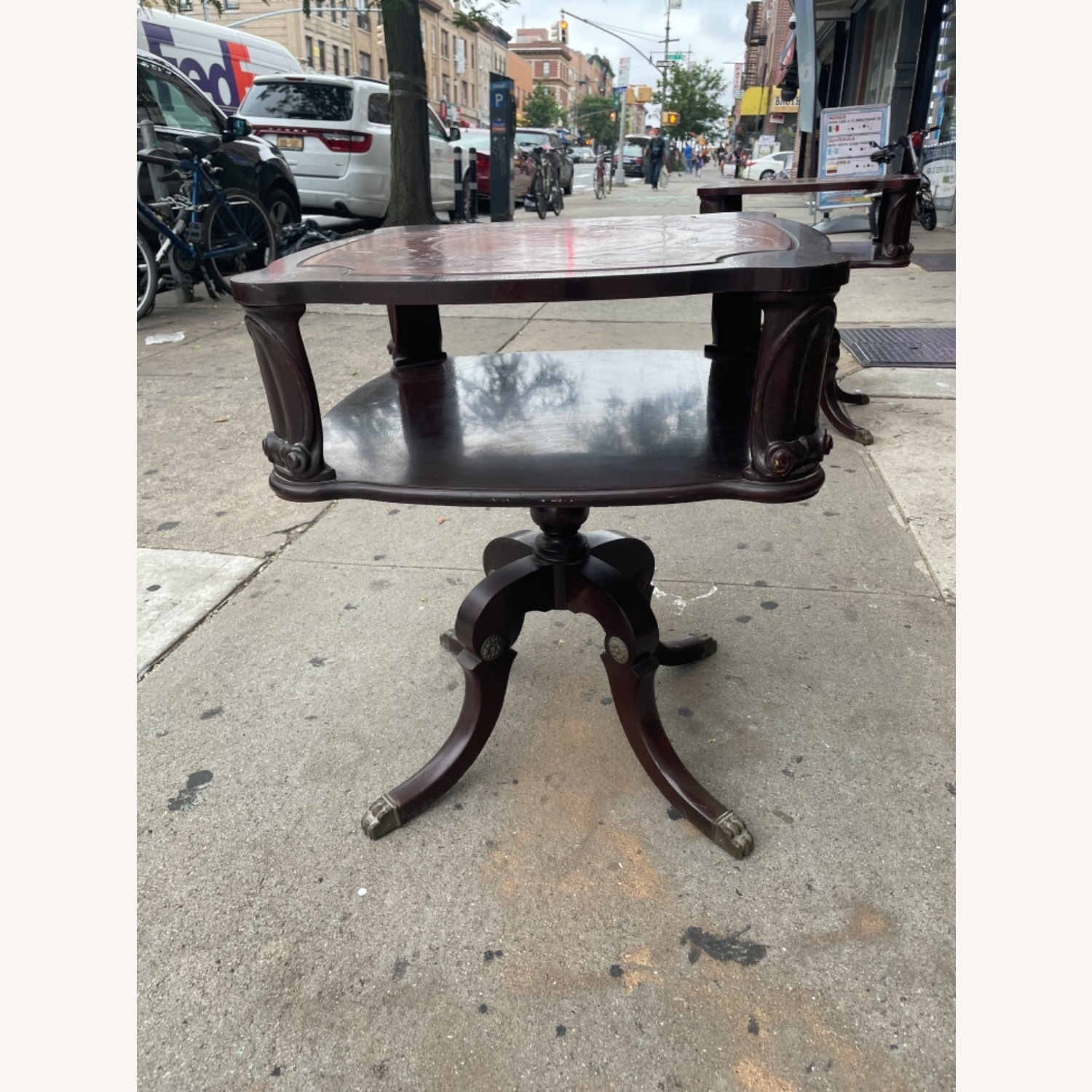 Adams Always 1930s Decorative Leather Top Table - image-1
