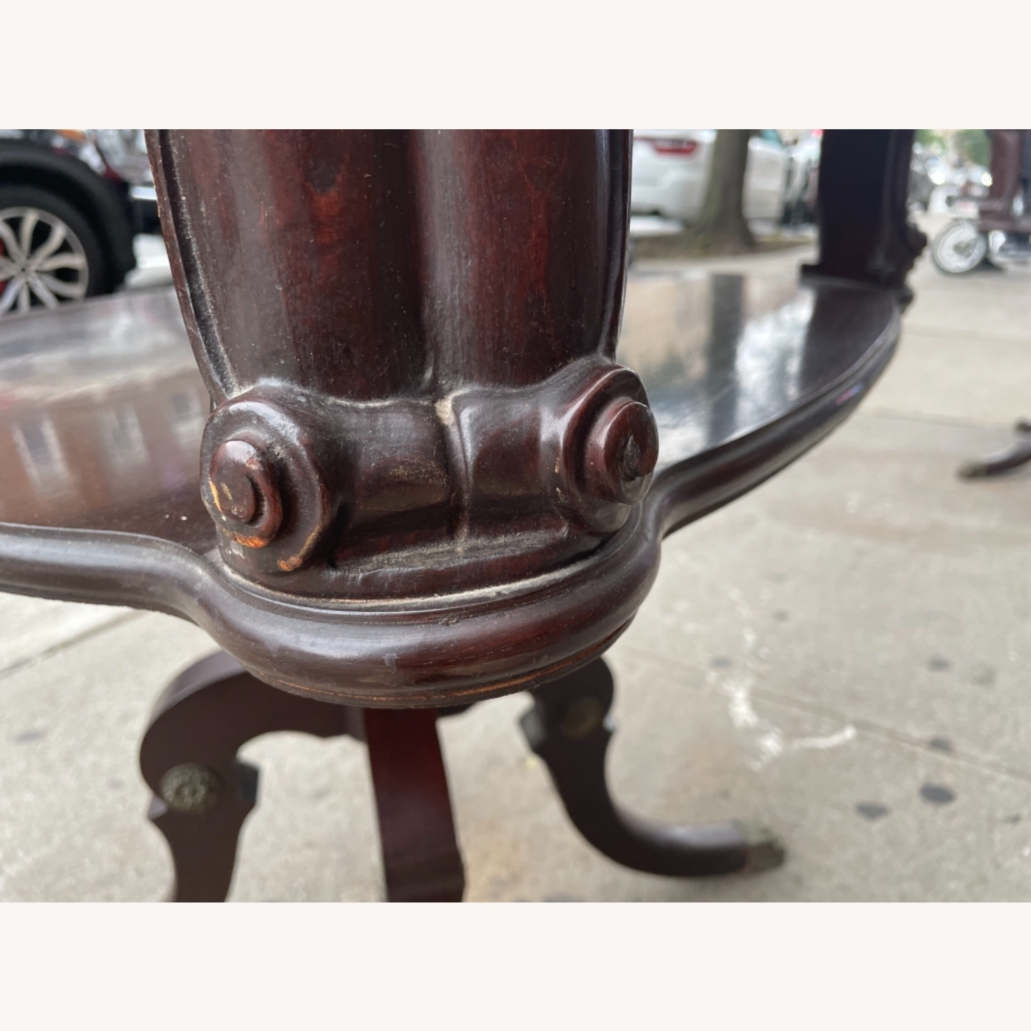 Adams Always 1930s Decorative Leather Top Table - image-9