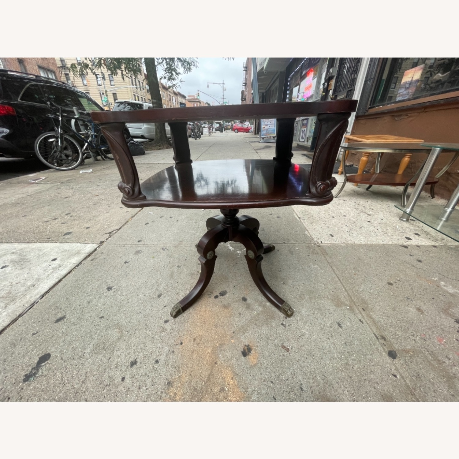 Adams Always 1930s Decorative Leather Top Table - image-19