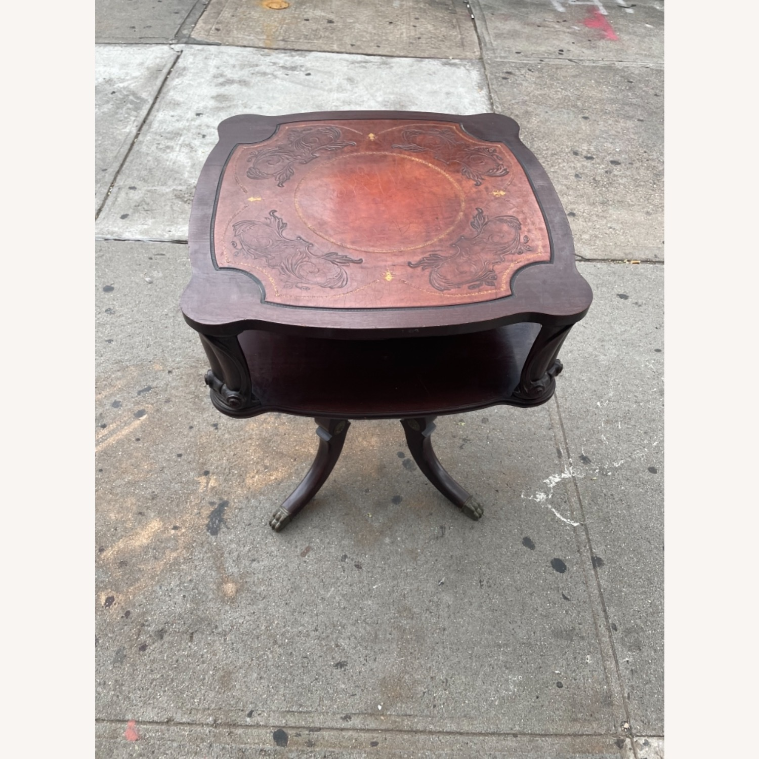 Adams Always 1930s Decorative Leather Top Table - image-5