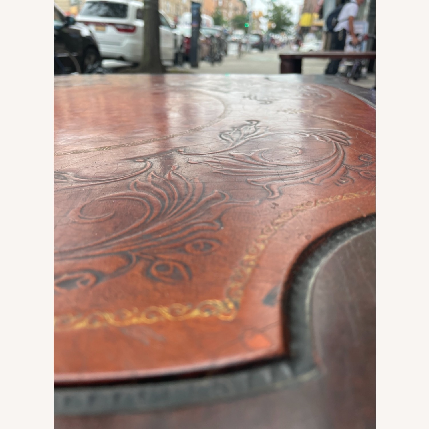 Adams Always 1930s Decorative Leather Top Table - image-7