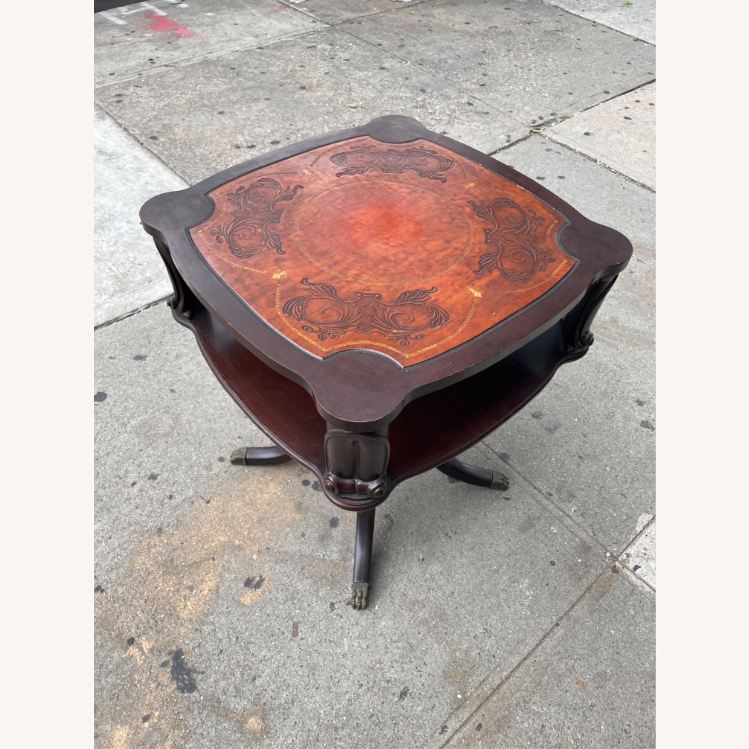 Adams Always 1930s Decorative Leather Top Table - image-18