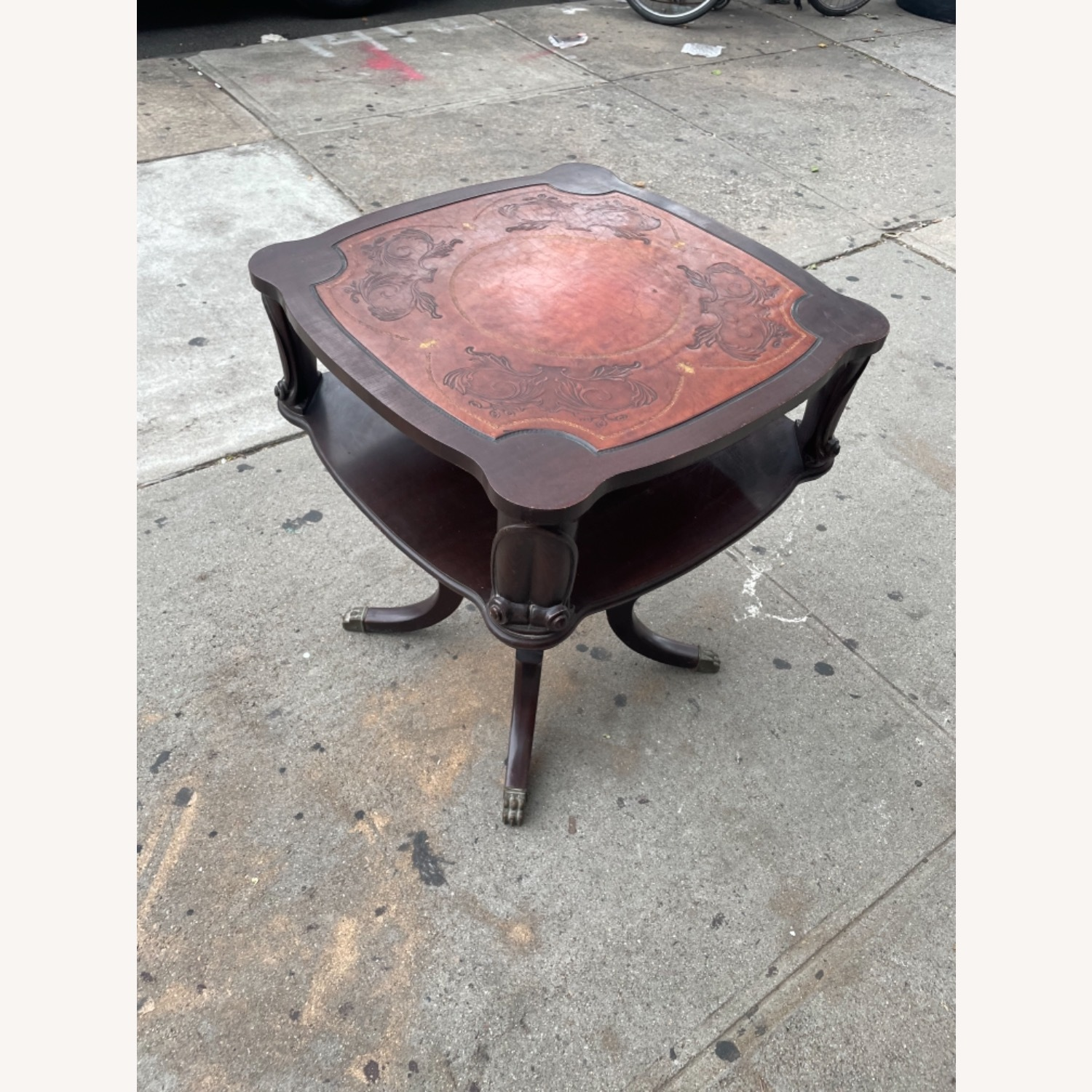 Adams Always 1930s Decorative Leather Top Table - image-4