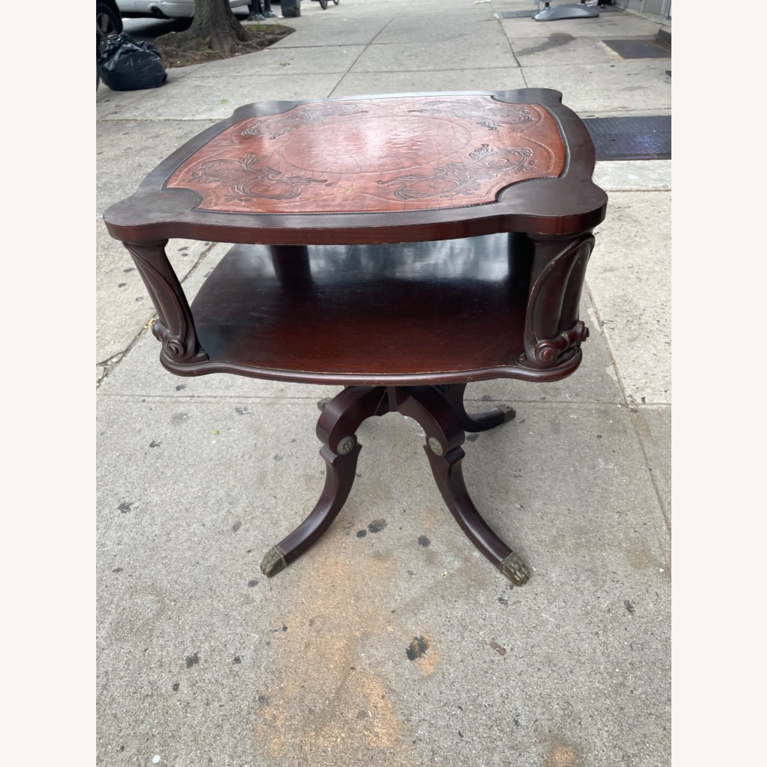 Adams Always 1930s Decorative Leather Top Table - image-24