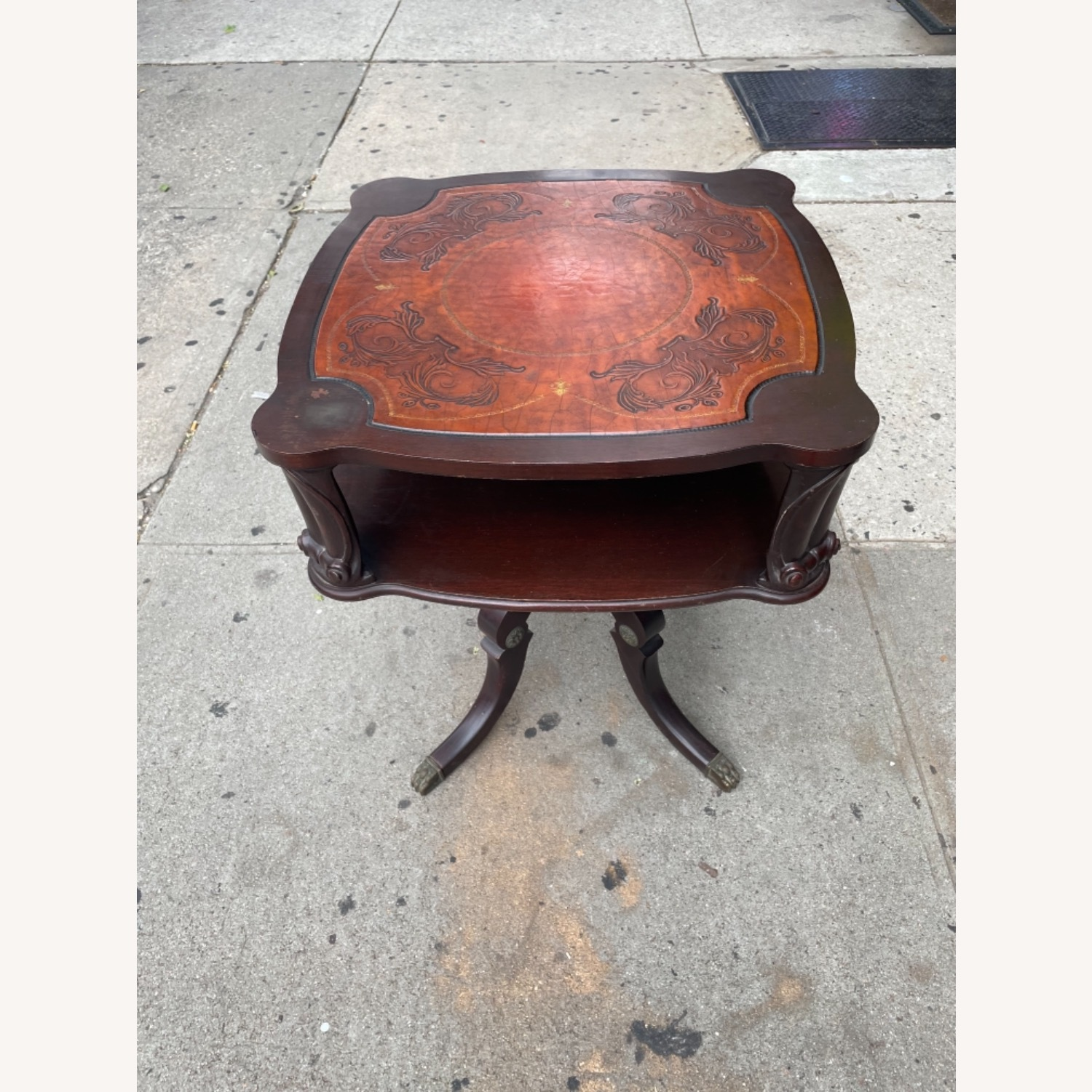 Adams Always 1930s Decorative Leather Top Table - image-17