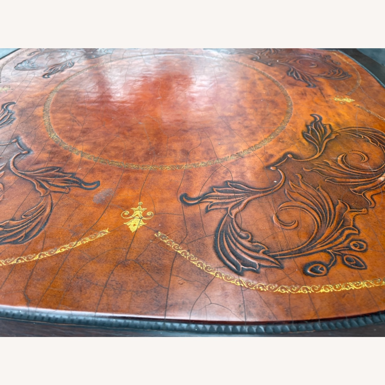 Adams Always 1930s Decorative Leather Top Table - image-21